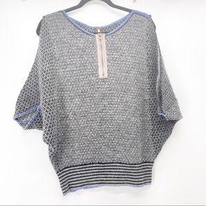 Free people dolman cold shoulder zipper sweater